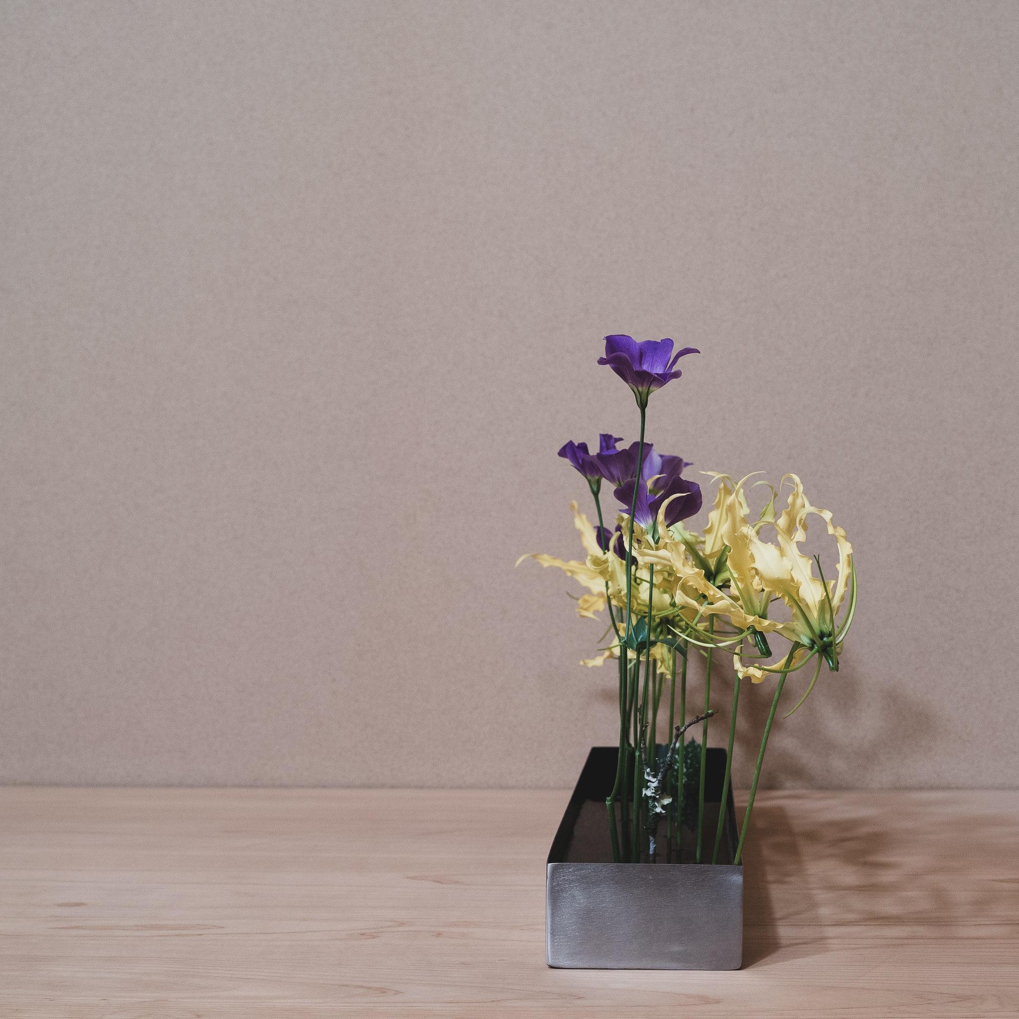 自由花 グロリオサ、トルコ桔梗、梅